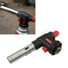 Auto Ignition Flamethrower Burner Butane Gas Blow Torch Camping Welding BBQ Tool