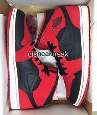 2014 Nike Air Jordan 1 Black Red Sz 12 Bulls Retro 3 4 5 6 7 8 9 10 11 13 23 45
