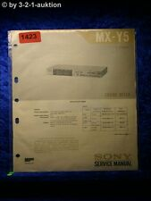 Sony Service Manual MX Y5 Sound Mixer (#1423)
