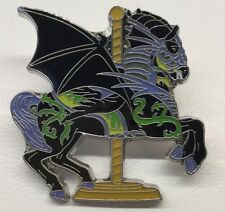 Disney Pin Kingdom Carousel Booster Set Maleficent Sleeping Beauty Aurora Horse