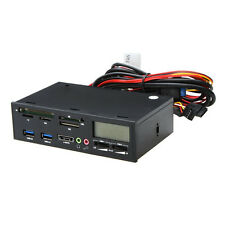 "5.25"" USB 3.0 All-in-1 PC Media Dashboard Front Panel Card Reader I/O Ports PK"