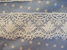 Exclusive English Nottingham Cotton Cluny Lace Vintage style - OFF WHITE FC279