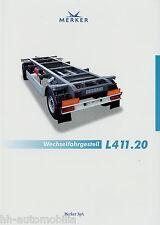 Prospekt D Merker Wechselfahrgestell L411.20 8 02 2002 brochure trailer Anhänger