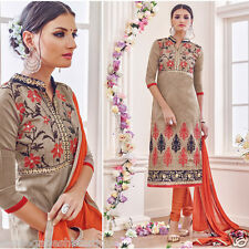 LATEST TRADITIONAL ETHNIC CHANDERI SILK SALWAR KAMEEZ UNSTITCHED DRESS MATERIAL