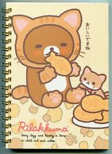 San-X Rilakkuma Relax Bear Spiral Notebook Memo #38 (Cat)