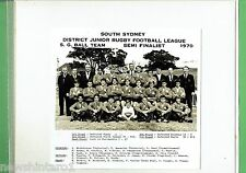 #T102.  SOUTH SYDNEY JUNIOR RUGBY LEAGUE PHOTO - 1970 S.G. BALL SEMIFINALISTS