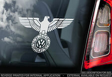 VW Eagle - Car Sticker -Volkswagen GTI Golf Beetle Camper Polo Passat Wings Sign