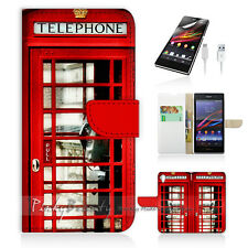 Sony Xperia Z3 Compact Mini Flip Wallet Case Cover! Old UK Phone Booth P0096