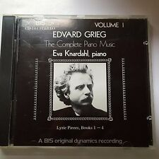 Grieg Lyric Pieces Books 1-4 - Eva Knardahl - Bis CD-104, Made in the UK.