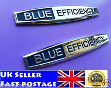 Blue Efficiency Mercedes Metal Logo Emblem Badge Car Sticker New 2pcs
