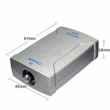 Coaxial RCA to Optical Toslink SPDIF Digital Audio Single Converter Adapter NEW