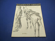 American Artist Magazine February 1949 Brush Drawing By Noel Sickles