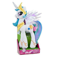 "MY LITTLE PONY CELESTIA SOFT PLUSH 12"" LIGHTS & SOUNDS TALKING HASBRO TOY"