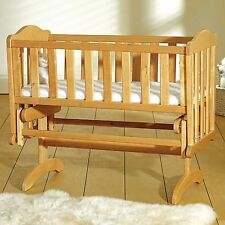 SAPLINGS SWINGING  GLIDING CRIB ANTIQUE PINE