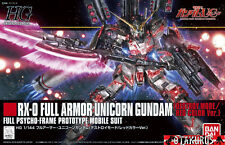 RX-0 Full Armor Unicorn Gundam Destroy Mode/Red Color HG 1/144 Model Bandai