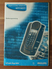 Bedienungsanleitung Philips DECT Digital Cordless Telephone 6311 6511
