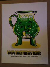 Dave Matthews Band Poster 2006 Riverbend Ohio Green Kool Aid Signed Artist Proof