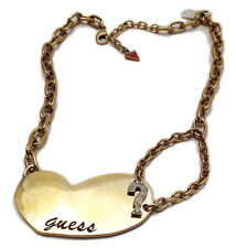 GUESS BY MARCIANO COLLANA DONNA METALLO CUORE WOMAN NECKLACE GOLD COLOR HEART