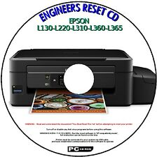 EPSON L130-L220-L310-L360-L365 PRINTER WASTE INK PAD COUNTER RESET SERVICE PC CD