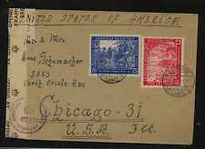 Germany 580-81  Lepzig fair issue on cover censor to US             MS0615