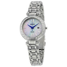 Seiko Tressia Mother of Pearl Dial Diamond Solar Ladies Watch SUT181