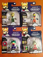 World of Nintendo Set FALCO SLIPPY PEPPY FOX MCCLOUD 2016 JAKKS Pacific Star Fox
