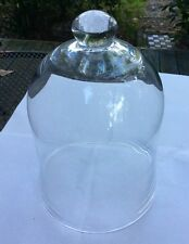 Antique Glass Display Cloche Dome BELL JAR~French LARGE 12.5 X 9""