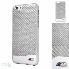 Bmw M de carbono real iPhone 6, 6s 4,7 hard case back cover funda protectora para móvil