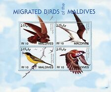 Maldives 2006 MNH Migrated Birds I 4v M/S Swift Terns Wagtail Sparrows Stamps