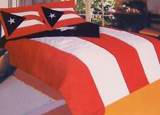 Comforter Bedspread Puerto Rico Flag 68x86 Twin NEW with ONE pillow sham