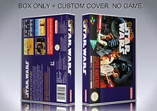 SUPER STAR WARS. PAL FORMAT. Box/Case. Super Nintendo. BOX + COVER. (NO GAME).