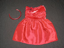 Genuine American Girl Doll Clothes Rosey Red Outfit (missing shoes!)