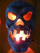 LARGE DON POST FLAMING SKULL WALL SCONCE HALLOWEEN  / HORROR DISPLAY PROP - LOOK