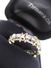 TIFFANY & CO. JEAN SCHLUMBERGER 16 STONE DIAMOND RING 18K GOLD SIZE 4.5