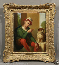 """Man and Dog"" 19th Century signed Oil Painting: Henry Nelson O'Neil (BRITISH)"
