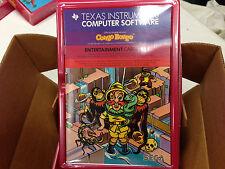 CONGO BONGO video game Texas Instruments TI 99/4a Computer - NEW FRESH CASE -NIB