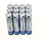 12pcs AAA 1000mAh 1.2V Ni-MH Rechargeable battery AAA BTY Cell for MP3 RC Toys
