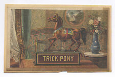 1880's-1890's TRICK PONY TOY MECHANICAL BANK FULL COLOR ADVERTISING CARD