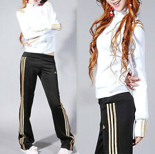 Adidas White/Gold Tracksuit Jacket & Black/Gold Striped Pants ENDS 20th OCT