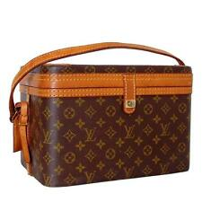 Louis Vuitton Monogram Canvas Train Case Travel Bag Vanity + Luggage Tag 1980s