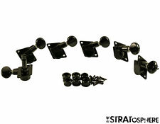 NEW Kluson 70s Style Vintage Black 6 In Line TUNERS for Fender Strat KFT-3805BL