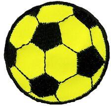Fussball Fußball neongelb - Aufnäher Aufbügler Patch - OVP #9187 Soccer Football