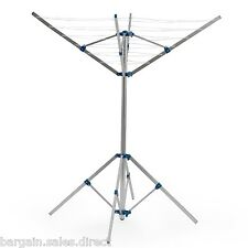 FREESTANDING ROTARY ALUMINIUM 4ARM GARDEN LAUNDRY WASHING LINE CLOTH DRIER AIRER