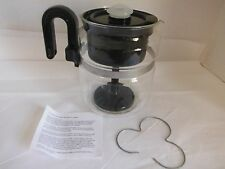 Glass One All 8 cup Percolator Coffee Pot Maker Stove Top With Coil