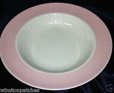 "THOMAS ROSENTHAL SUNNY DAY ROSE LIGHT PINK RIM 9"" RIM SOUP BOWL GERMANY"