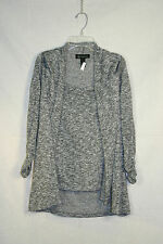 I-N-C silver, black and white knit blouse size S