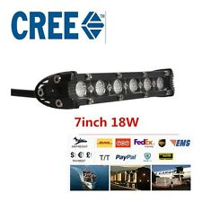 18W 7inch CREE LED Pods Work Light Bar Ultra Slim Off road Truck Driving UTE ATV