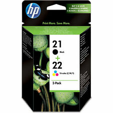 Original HP 21 HP 22 Black Colour Ink Cartridge Combo Set for HP Deskjet F2280