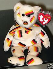 Ty Beanie Baby ~ DEUTSCHLAND the FLAG NOSE Bear ~ Germany Exclusive ~ MWMT'S