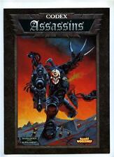 Warhammer 40,000 40K Assassins Codex Supplement - Games Workshop 1999